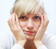 Mujer del dolor Foto de archivo libre de regalías