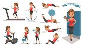 Mujer del ejercicio stock de ilustración