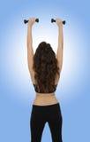 Mujer del ejercicio de la aptitud Foto de archivo libre de regalías