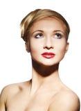 Mujer del encanto con brillantemente maquillaje Imagen de archivo