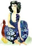 Mujer del este Foto de archivo
