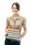 Mujer del estudiante con los libros Imagen de archivo libre de regalías