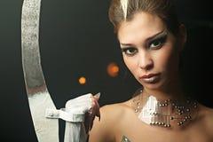Mujer del extranjero de la belleza Imágenes de archivo libres de regalías