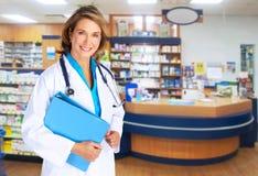 Mujer del farmacéutico. fotografía de archivo