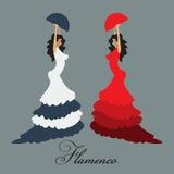 Mujer del flamenco del vector Foto de archivo