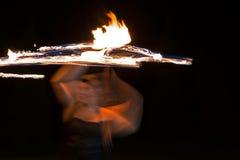 Mujer del fuego Fotos de archivo libres de regalías