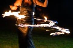 Mujer del fuego Imágenes de archivo libres de regalías