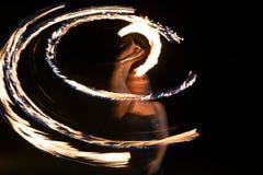 Mujer del fuego Imagen de archivo libre de regalías