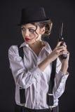 Mujer del gángster imagen de archivo libre de regalías