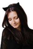 Mujer del gato Foto de archivo libre de regalías
