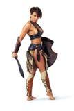 Mujer del guerrero Fotos de archivo