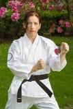 Mujer del guerrero del arte marcial Imagen de archivo