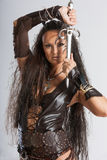 Mujer del guerrero - los Amazonas Imágenes de archivo libres de regalías