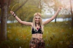 Mujer del hippie Imagen de archivo libre de regalías