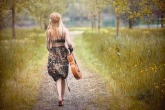 Mujer del hippie Imágenes de archivo libres de regalías