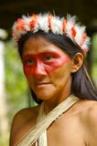 Mujer del indio del Amazonas fotografía de archivo