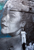 Mujer del indio del arte de la calle Imagen de archivo