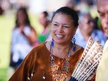 Mujer del indio del nativo americano Fotos de archivo