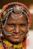 Mujer del indio del retrato Imagen de archivo libre de regalías