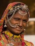 Mujer del indio del retrato Foto de archivo libre de regalías