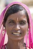 mujer del indio del retrato Pushkar, la India Fotografía de archivo