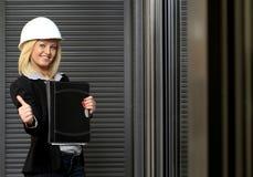 Mujer del ingeniero Imagen de archivo libre de regalías