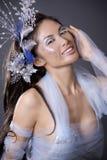 Mujer del invierno Fotografía de archivo