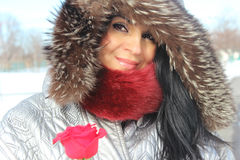 Mujer del invierno de la moda Imágenes de archivo libres de regalías