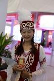 Mujer del kazak chino Imágenes de archivo libres de regalías
