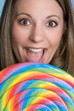 Mujer del Lollipop Imagen de archivo