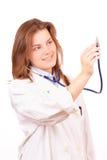 Mujer del médico bastante foto de archivo