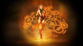 Mujer del mago Imágenes de archivo libres de regalías