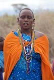 Mujer del Masai Imágenes de archivo libres de regalías