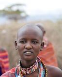 Mujer del Masai Imagen de archivo