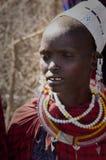 Mujer del Masai fotografía de archivo