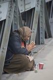 Mujer del mendigo Foto de archivo