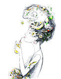 Mujer del nautilus (serie A) libre illustration