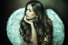 Mujer del ángel Imagen de archivo libre de regalías