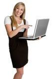 Mujer del ordenador Imágenes de archivo libres de regalías