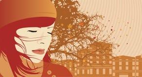 Mujer del otoño Fotografía de archivo libre de regalías