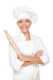 Mujer del panadero/del cocinero Imagenes de archivo