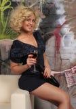 Mujer del partido fotografía de archivo libre de regalías