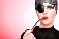 Mujer del pirata Foto de archivo