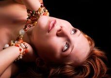 Mujer del Redhead imágenes de archivo libres de regalías
