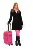 Mujer del Redhead que va a viajar Imagen de archivo