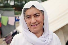 Mujer del refugiado imagenes de archivo