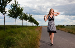 Mujer del resorte Fotografía de archivo libre de regalías