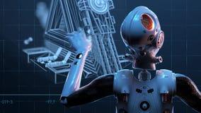 Mujer del robot, mujer de la ciencia ficci?n libre illustration