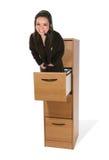 Mujer del servicio de atención al cliente imagen de archivo libre de regalías