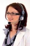 Mujer del servicio del cliente empresa Fotos de archivo libres de regalías
